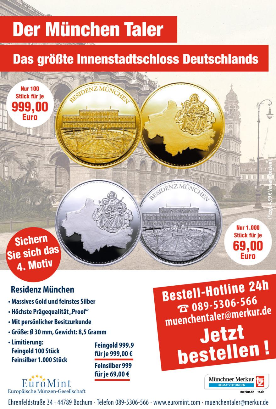 Der München Taler vom Montag, 13.09.2021