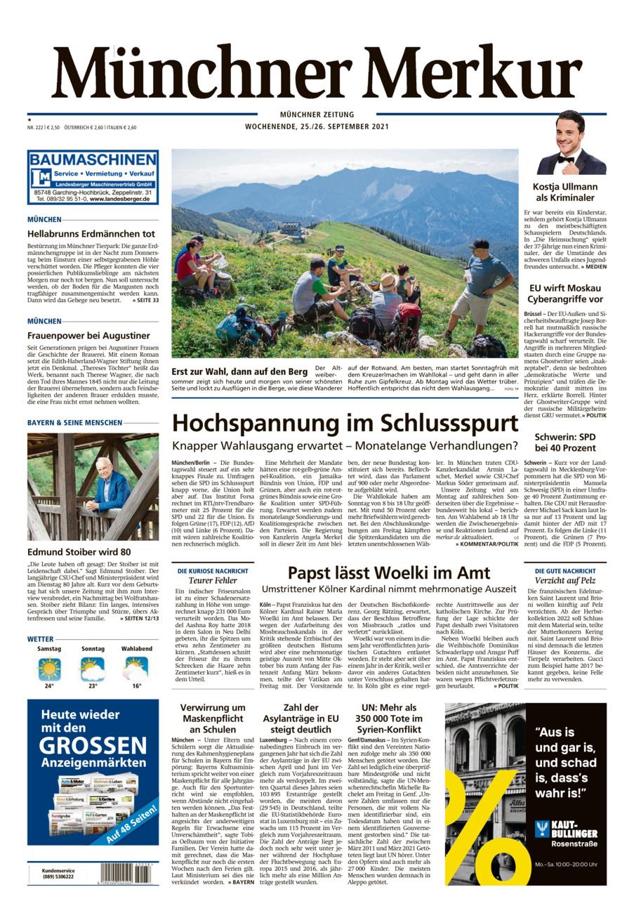 Münchner Merkur - Stadt vom Samstag, 25.09.2021