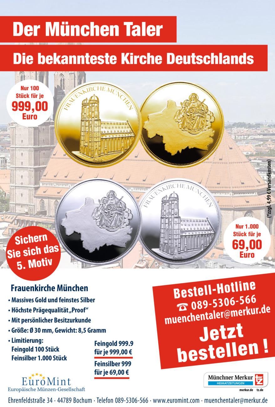 Der München Taler vom Samstag, 16.10.2021